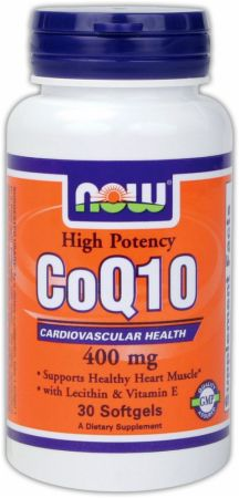 NOW, CoQ10 400mg, 30 капсул