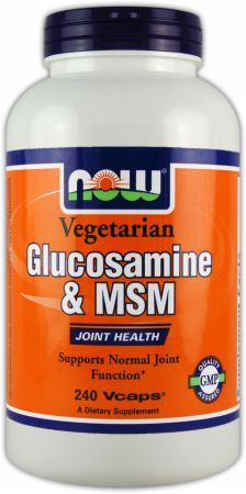 NOW, Vegetarian Glucosamine & MSM, 240 капсул