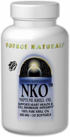 Source Naturals, NKO, 500 мг/ 60 капсул