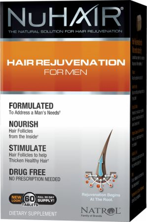 NuHAIR, Hair Regrowth For Men, 60 таблеток