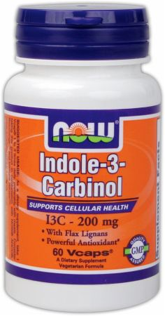 NOW, Indole-3-Carbinol, 200мг/60 капсул
