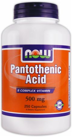 NOW, Pantothenic Acid, 250 капсул