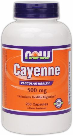 NOW, Cayenne, 250 капсул