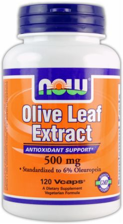 NOW, Olive Leaf Extract, 120 капсул