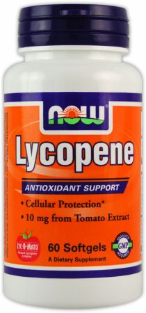 NOW, Lycopene, 10мг/60 капсул