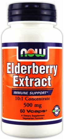 NOW, Elderberry Extract, 500мг/60 капсул