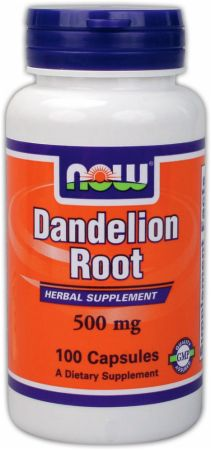 NOW, Dandelion Root, 500мг/100 капсул