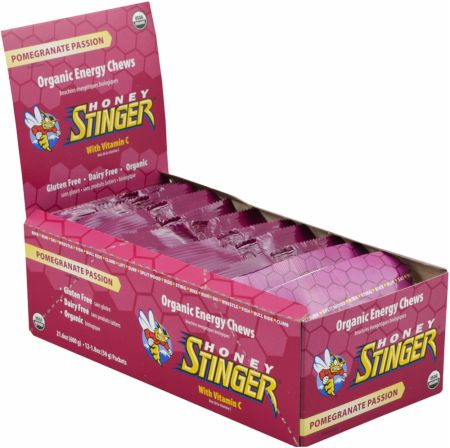 Honey Stinger, Organic Energy Chews, 12 упаковок