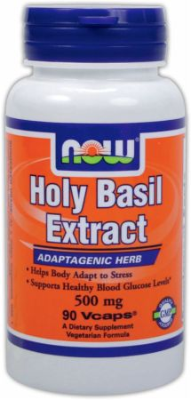 NOW, Holy Basil Extract, 500мг/90 капсул
