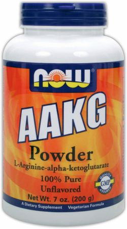 NOW, AAKG Powder, 200 грамм