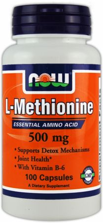 NOW, L-Methionine, 100 капсул