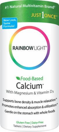 Rainbow Light, Food Based Calcium, 180 таблеток