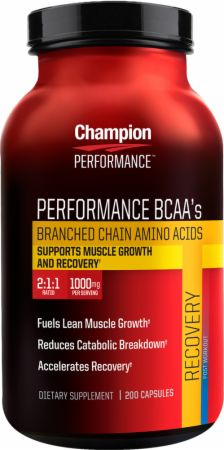 Champion, Performance BCAA's, 200 капсул