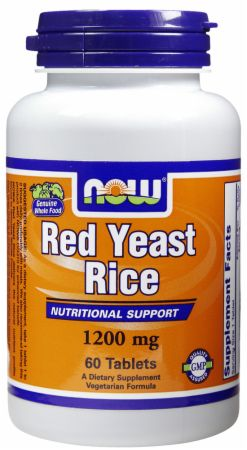 NOW, Red Yeast Rice, 1200мг/60 таблеток