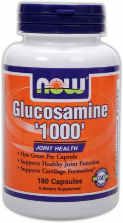 NOW, Glucosamine 1000, 180 капсул