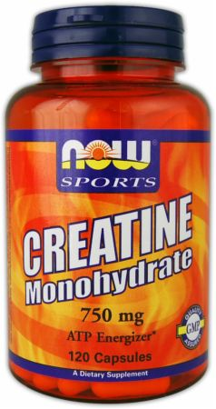 NOW, Creatine Monohydrate Caps, 120 капсул