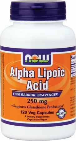 NOW, Alpha Lipoic Acid 250, 250мг/120 капсул