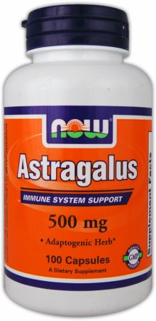 NOW, Astragalus, 500мг/100 капсул