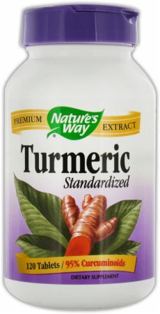Nature's Way, Standardized Turmeric, 120 таблеток