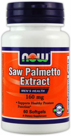 NOW, Saw Palmetto Extract, 160мг/60 капсул