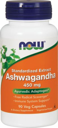 NOW, Ashwagandha, 450мг/90 капсул