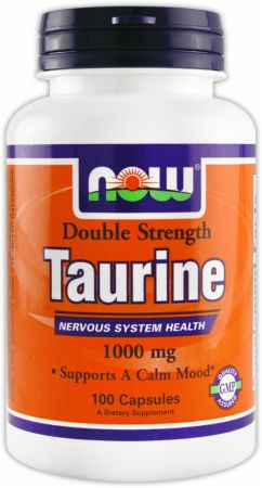 NOW, Taurine Double Strength, 1000мг/100 капсул