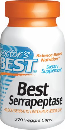 Doctor's Best, Best Serrapeptase, 270 капсул