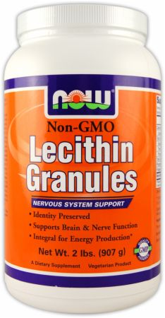 NOW, Lecithin Granules - Non-GMO, 908 грамм