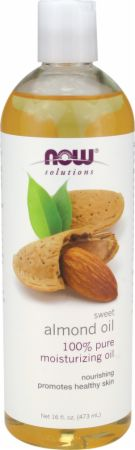 NOW, Sweet Almond Oil, 474 мл