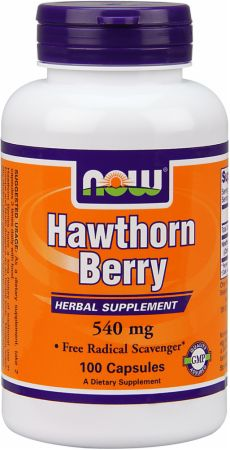 NOW, Hawthorn Berry, 540мг/100 капсул
