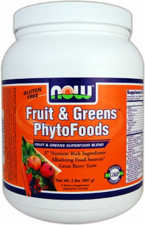 NOW, Fruit & Greens PhytoFoods, 908 грамм