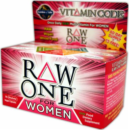 Garden Of Life, Raw One For Women, 75 капсул