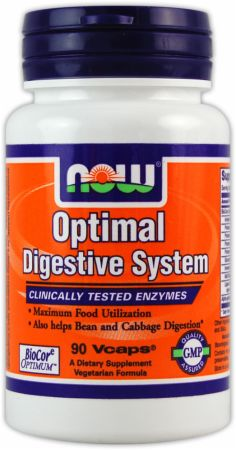 NOW, Optimal Digestive System, 90 капсул