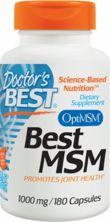 Doctor's Best, Best MSM, 1000мг/180 капсул