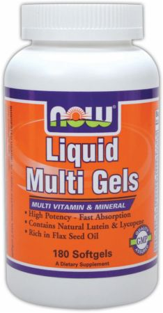 NOW, Liquid Multi Gels, 180 капсул