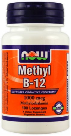 NOW, Methyl B-12, 1000мкг/100 пастил