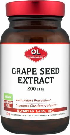 Olympian Labs, Grape Seed Extra Strength, 200мг/100 капсул