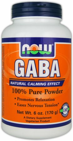NOW, GABA Pure Powder, 170 грамм