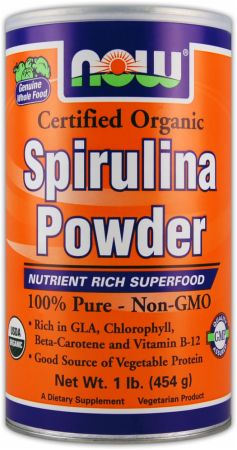 NOW, Spirulina Powder, 454 грамма