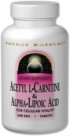 Source Naturals, Acetyl L-Carnitine & Alpha-Lipoic Acid, 60 таблеток