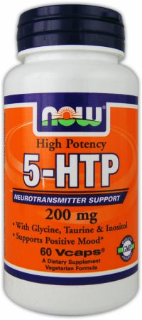 NOW, 5-HTP - High Potency, 200мг/60 капсул