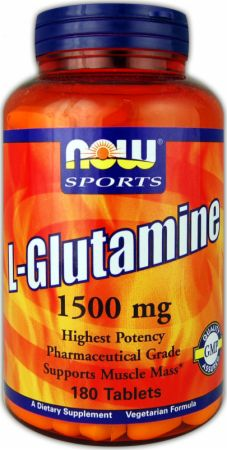 NOW, L-Glutamine, 1500мг/180 таблеток