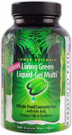 Irwin Naturals, Women's Living Green Liquid-Gel Multi, 90 капсул