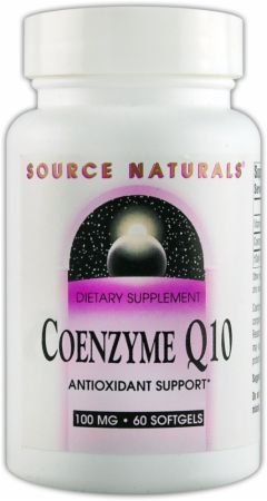 Source Naturals, Coenzyme Q10, 100мг/60 капсул