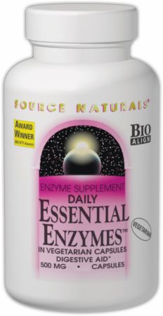 Source Naturals, Daily Essential Enzymes, 120 капсул