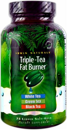 Irwin Naturals, Triple-Tea Fat Burner, 75 капсул
