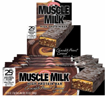 CytoSport, Muscle Milk High Protein Bars, 8 батончиков