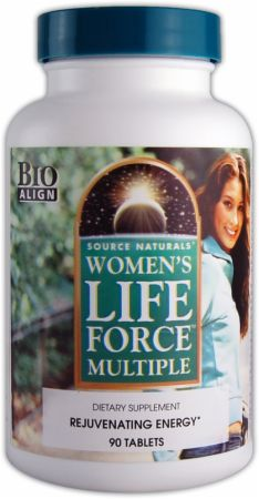 Source Naturals, Women's Life Force Multiple, 90 таблеток