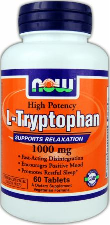 NOW, L-Tryptophan, 500мг/120 капсул