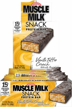 CytoSport, Muscle Milk Snack Bars, 12 батончиков